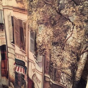 Other - French Street Scene Fabric Shower Curtain